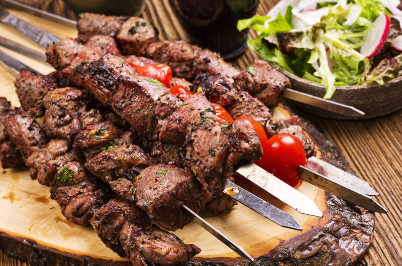 Marinated Greek Lamb Souvlaki
